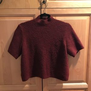 LOFT semi cropped mock neck sweater